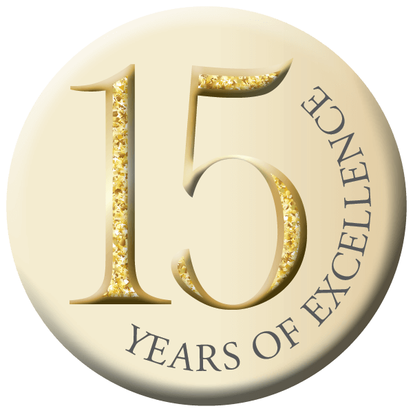 Redstone Village 15th Anniversary Button