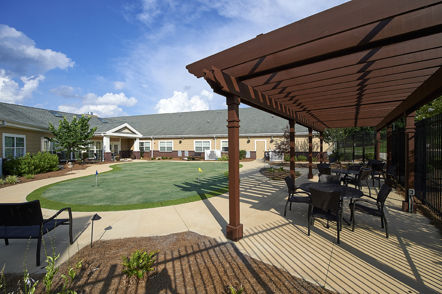 Redstone Village's putting green