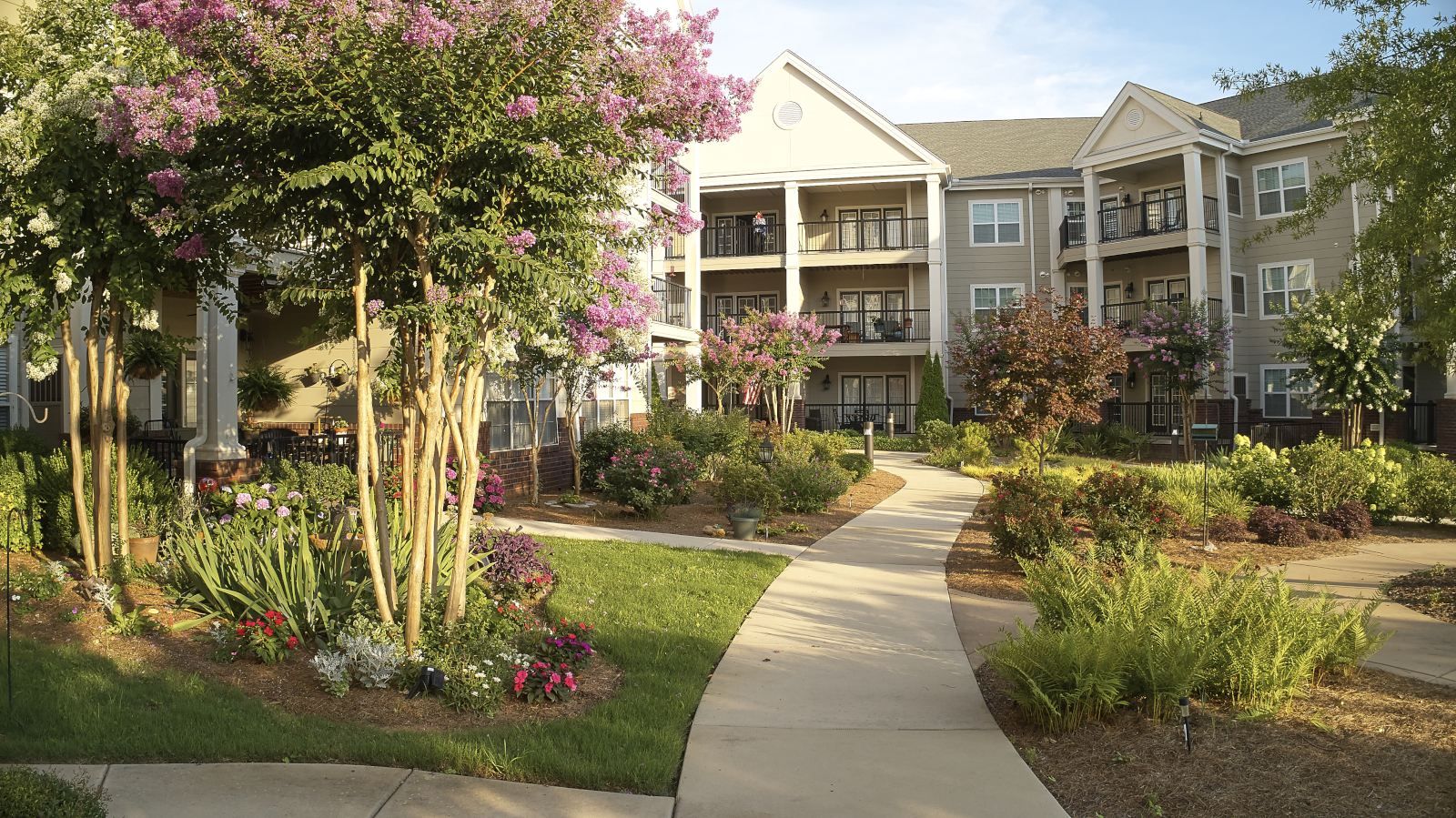 View of Redstone Village's courtyard 3