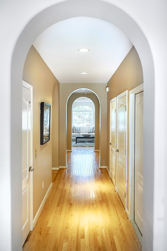 View of hallway leading to Living room