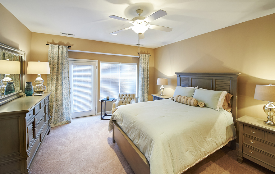 Bedroom of Redstone Village home