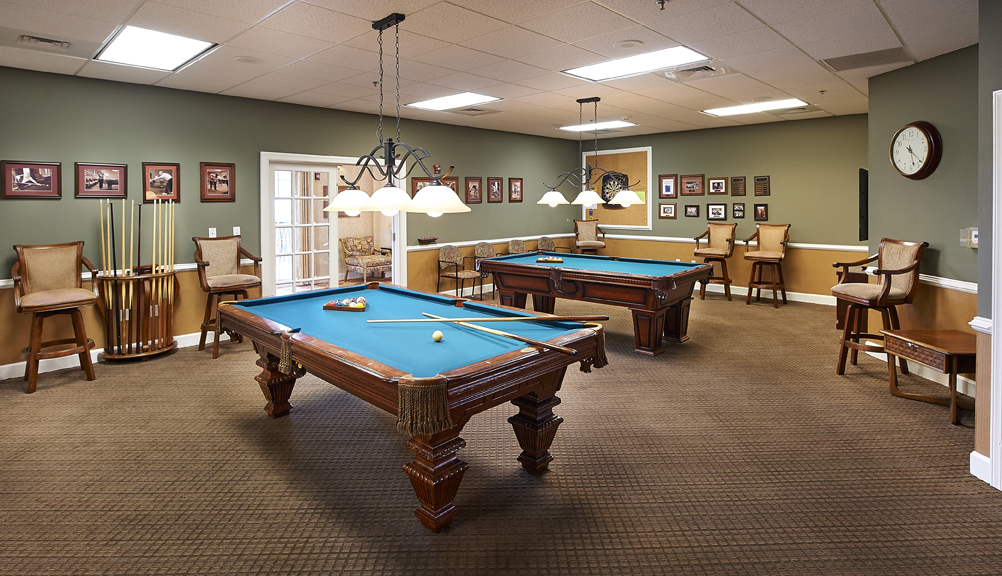 Billiards Room at Redstone Village
